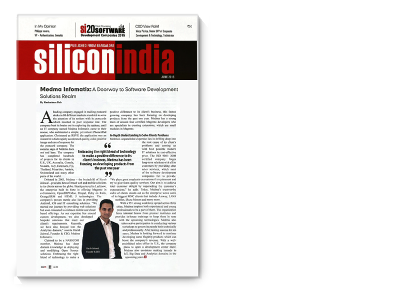 Silicon India coverage